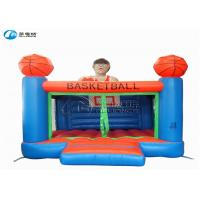 Cheap High quality kids games basketball castle inflatable trampoline castle for sale
