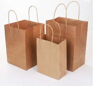 Cheap 180gsm 16x6x12 Inches Handmade Paper Gift Bags for sale
