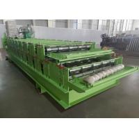 Buy cheap 0.3-0.8mm Thickness Roll Former China Double Layer Roof Panel Roll Forming from wholesalers