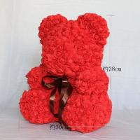 Cheap Lovely Gift 30 Colors Artificial Rose Foam Rose Bear On Sale For Christmas for sale