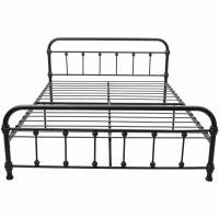 Cheap Hostel Adult King Size Iron Bed Customizable Electrostatic powder coating for sale