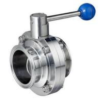 Cheap Quick Install Tri Clamp Butterfly Valve For Wine Industries ISO DIN BS Approved for sale