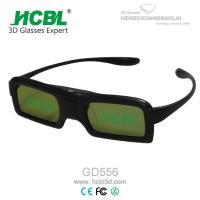 Cheap DLP Link Universal Active Shutter 3D Glasses With Rechargable Battery / Logo Print for sale