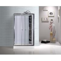 Cheap White ABS Tray Chrome Profiles Rectangular Shower Cabins 1200 X 800 X 2250 mm for sale