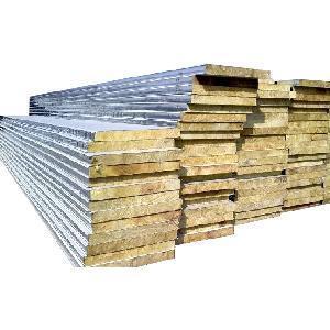 Fireproof Rock Wool Sandwich Wall Panel With Certificate