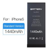Cheap 1440mAh Original Capacity Iphone 5 Battery Replacement Black Color 1 Year Warranty for sale