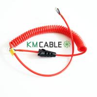 Buy cheap Fire Rescue Telephone Spiral Cable High Tensile Strength Copper Braided from wholesalers