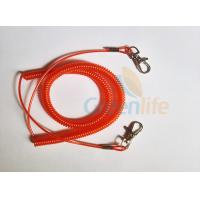 Buy cheap Promotional Spiral Retractable Fishing Lanyard , Red Coiled Security Tethers from wholesalers
