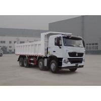 Cheap 380HP HOWO A7 Used Dump Truck Front Side Lifting Type 300L Fuel Tanker Capacity for sale