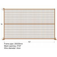 Buy cheap Movable Canada Temporary Fence Panel Welded Portable Fence 6FT X 9.5FT from wholesalers