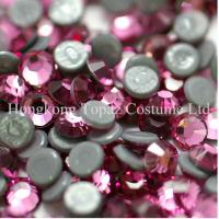 Cheap SS16/4mm Rose Extra strong glue heat transfer iron on bling rhinestone for sale