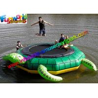 Cheap Turtle Jump 15-Foot Water Trampoline, Inflatable Floating Water Toys / Jumping Pad for sale