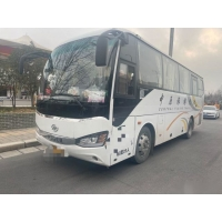 Cheap Used Higer Bus Model KLQ6882 39 Seats Steel Chassis Used Passenger Bus Yuchai Rear Engine 162kw Single Doors Left Steer for sale