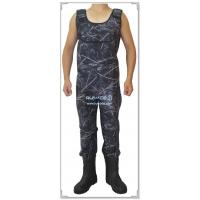 China Men camo neoprene chest fly fishing wader on sale