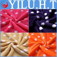 China simple dot baby applique king-size coral fleece throw baby blanket on sale