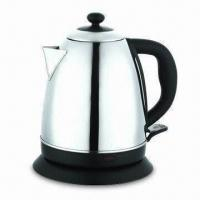 Cheap Electric Kettle with 0.75M Power Cord Length, Concealed Heating Element for sale