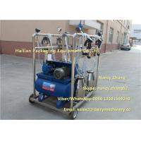 2.2kw Vacuum Cow Breast Mobile Milking Machine With 4 Cluster Group Manufactures