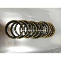 Buy cheap Coffee And Golden Color Hydraulic Piston Seals PTFE + Bronze + NBR / Cylinder from wholesalers