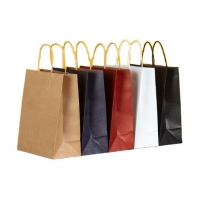 Cheap CMYK Biodegradable 300gsm Colored Kraft Bags for sale