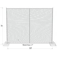 Buy cheap 6'X12' Outdoor American Used chain link temporary construction fence for safety from wholesalers