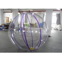 Cheap 0.8mm PVC Transparent Walk On Water Ball , Kids Inflatable Aqua Ball Pool Use for sale