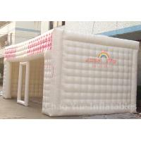 Cheap PVC Tarpaulin 8m Inflatable Cube Tent for outdoor for sale