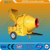 Cheap Hydraulic Tipping Type JZR500 Diesel Engine Concrete Mixer for sale