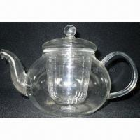 Buy cheap Mouth-blown Glass Teapot for Daily Use, as Tableware/Drinkware/Dinnerware from wholesalers