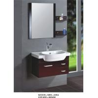 Cheap Red grape wine square type Solid Wood Bathroom Cabinet custom made for sale