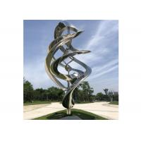 Cheap Custom Modern Metal Outdoor Art Sculpture Stainless Steel Mirror Polished For Garden for sale