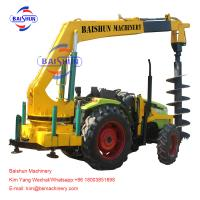 Cheap Electrical Works Garden Tractor Post Hole Digger , 3 Point Hitch Post Hole Digger for sale