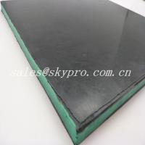 Cheap Wear - Resisting 30mm Black + Green + Black Sandwich Skirting Rubber Sheet Panel for sale