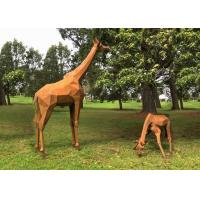 Buy cheap Garden Decoration Rusty Naturally Corten Steel Sculpture Giraffe Sculpture from wholesalers