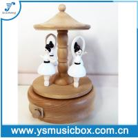 Cheap High Quality Wholesale Wooden Music box with ballerina dancing Musical box for sale