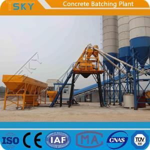 Cheap Skip Hoist Feeding HZS35 Concrete Batching Plant for sale