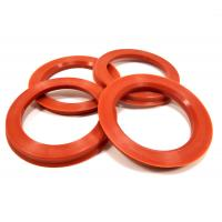Cheap 57.1 To 73.1 Plastic Hub Rings Recyclable , Red Vw Spare Parts High Performance for sale