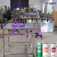 Cheap Soft Drink Aluminum Can Filler Machine , Commercial Can Sealing Equipment for sale