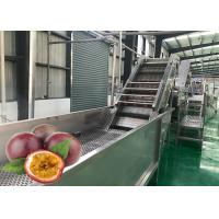 Cheap Stainless Steel Passion Fruit Pulping Machine 1500 T / Day Good Performance for sale