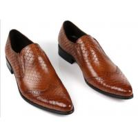 Snake Skin Pattern Men Formal Dress Shoes Genuine Leather Men Luxury Shoes For Party