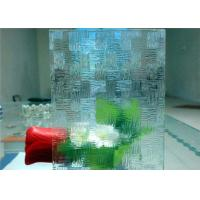 Cheap Economical Decorative Patterned Glass / Figured Glass With 3mm - 8mm Thickness for sale