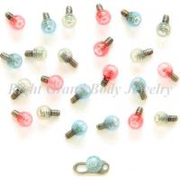 Cheap Acrylic Neon lamp Body Jewelry Parts With 4mm UV Ball For Anniversary for sale