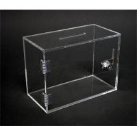 Acrylic Offering Boxes : Simple design clear acrylic cheap donation boxes with