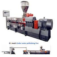 Cheap 300 - 400 Kg / H Double Screw Extruder Machine With Under Water Pelletizing System for sale