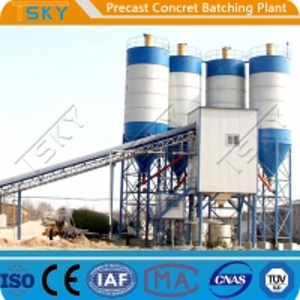 Cheap Belt Conveyor Feeding 20m³/h 180s Precast Batch Plant for sale