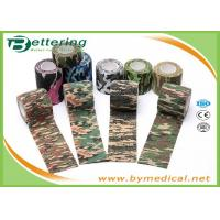 Cheap Army Camping Hunting Camouflage Pattern Printing Non Woven Self Adhesive Elastic Bandage for sale