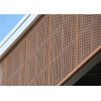 Etched Metal Panels : Brown engraved decorative perforated aluminum sheet mm