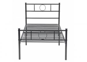 Cheap Modern Electrostatic Powder Coating Iron Single Bed for sale