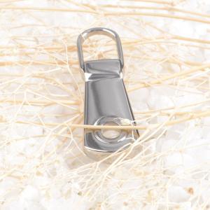 Cheap Removable Handbag Zipper Pulls / Zipper Slider For Luggage / Garment for sale