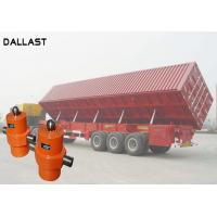 Cheap Single Acting Hydraulic Cylinder , Telescopic Chrome Hydraulic Lift Cylinders for Side Dumper for sale