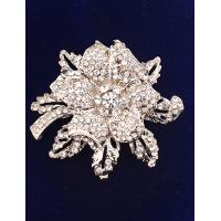 Cheap Korean Fashion Flower Diamond Brooch for Women in Jewelry Factory Direct 2015 for sale